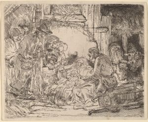 Etching; Rembrandt van Rijn, 1654,Rosenwald Collection, National Gallery of Art, Washington DC. Image Courtesy NGA Open Access