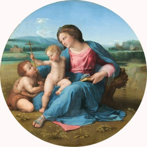 The Alba Madonna, 1509 (Oil on panel, Raphael (1483-1520) National Gallery of Art, Washington DC. Image courtesy of the NGA Open Acess