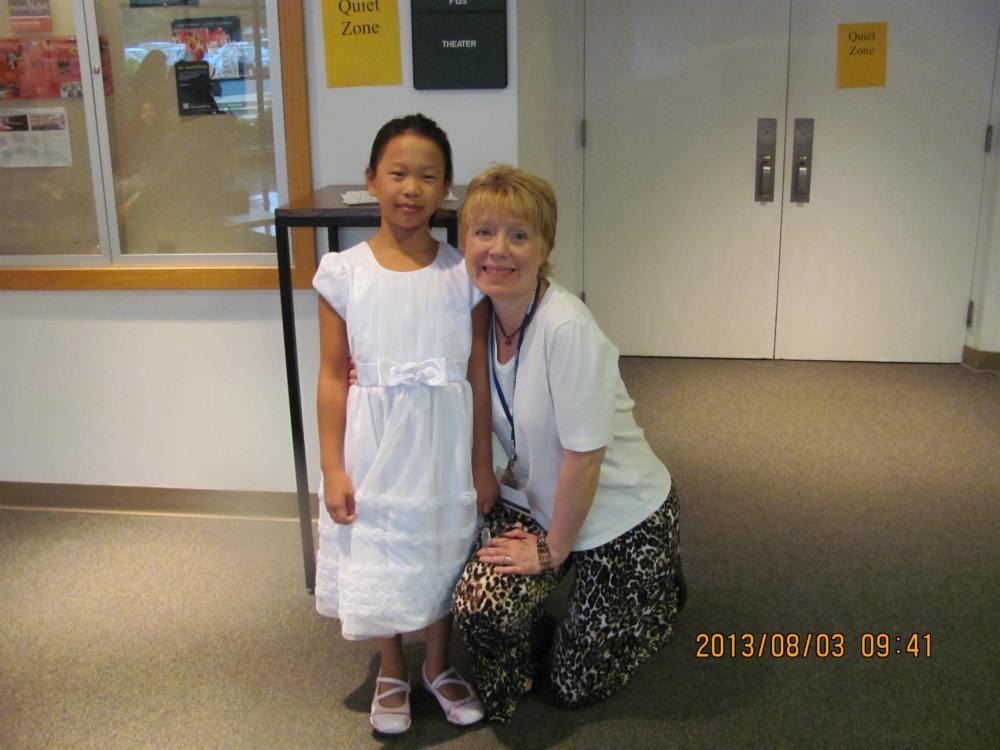 Katie Xiao with Jennifer Rundlett