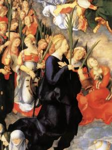 Adoration of the Trinity detailed