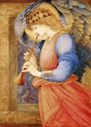 The Angel playing the flageolet.