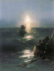 Jesus Walking on Water 1890, oil on canvas 27.6 x 19.7 inches