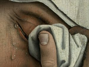Descent from the Cross, Detail, Rogier van der Weyden, 1399-1464, oil on panel, Prado Museum, Madrid, Image Wikimedia Commons