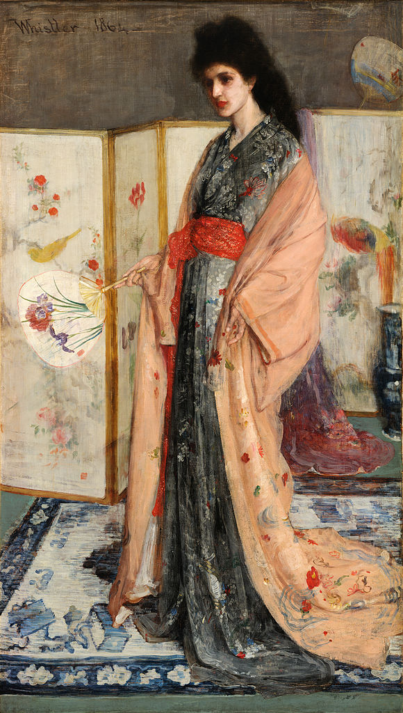La Princesse du pays de la porcelaine, James Abbott McNeill Whistler, 1865, oil on canvas, 79.3 X 45.7 in. Smithsonian Freer Gallery of Art, Washington DC