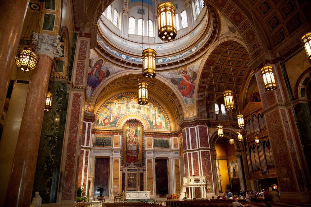 Cathedral of St. Matthews Interior, Washington DC, Image courtesy of Almonroth and Wiki Media Commons