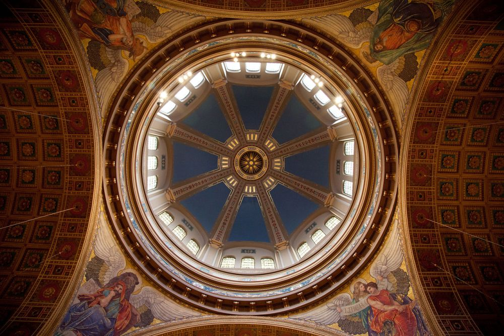 Interior dome of the Cathedral of St. Matthew of the Apostles Catholic Church, near Dupont Circle