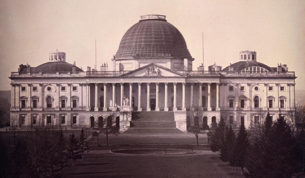 U.S. Capitol East Front Elevation, Daguerreotype, John Plumbe 1846