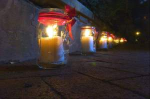 Candles light the way to the Historic Houses of Worship Tour in Frederick MD. Photo Tom Fedor