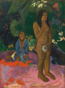 Parau na te Varua ino. Paul Gauguin. (Words of the Devil), 1892, oil on canvas, National Gallery of Art, Washington D.C.
