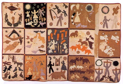 Harriet Powers, Bible Quilt, 1898, applique quilting, Image source wikicommons