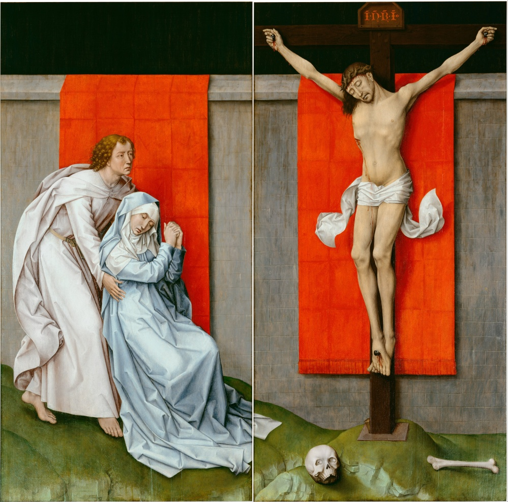 Rogier_van_der_Weyden,_Netherlandish_(active_Tournai_and_Brussels)_-_The_Crucifixion,_with_the_Virgin_and_Saint_John_the_Evangelist_Mourning_-_Google_Art_Project