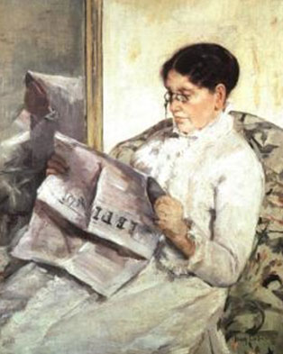 "Mary_Cassatt,_Reading_""Le_Figaro"",_1878,_Collection_Mrs._Eric_de_Spoelberch,_Haverford,_Pennsylvania"