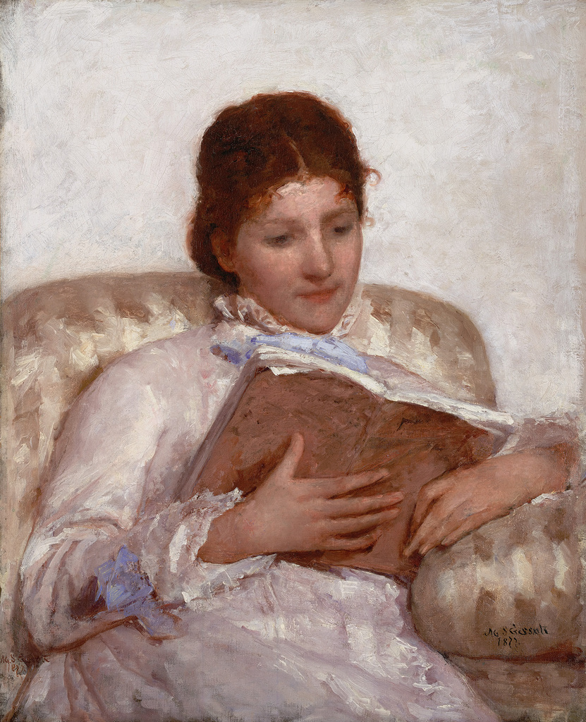 Mary Cassatt (1844-1926)The Reader 1877 Oil on canvas