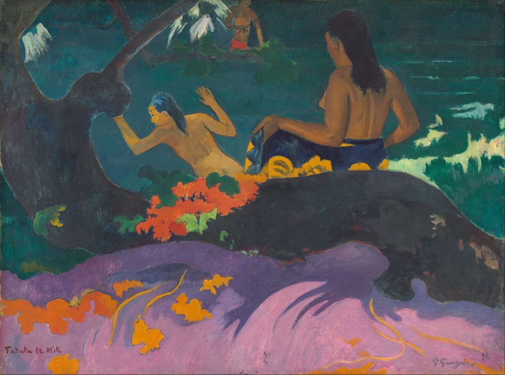Paul_Gauguin_-_Fatata_te_Miti_(By_the_Sea)_-_Google_Art_Project