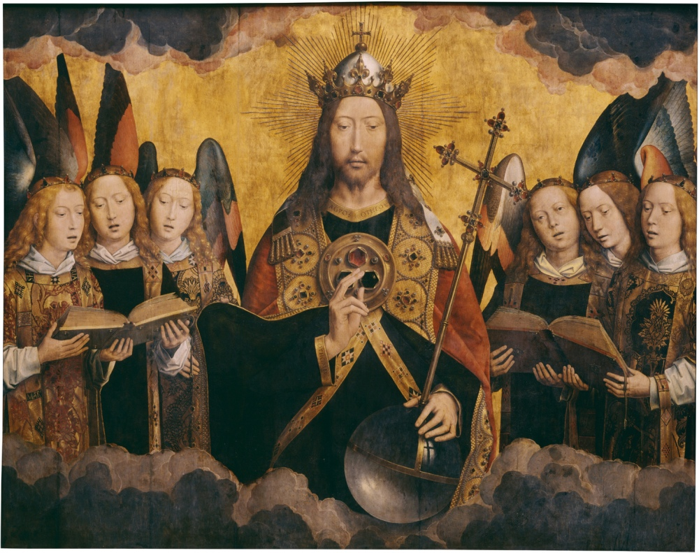 Hans_Memling_-_Christ_with_Singing_Angels_-_KMSKA_778
